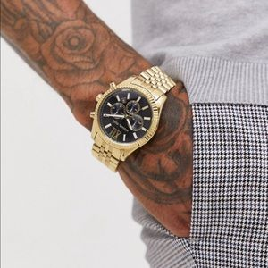 Men sexy mk gold wristwatch